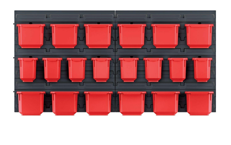 Závěsný panel s 20 boxy na nářadí ORDERLINE 800x165x400 KISTENBERG