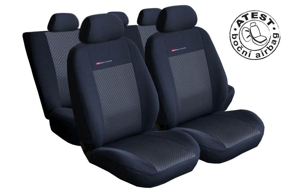 Autopotahy Škoda Roomster, 5 míst, černé