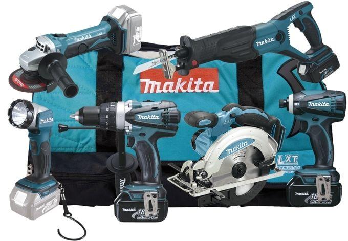 Makita DLX6011 aku sada, 6ks, 3x baterie, nabíječka, taška