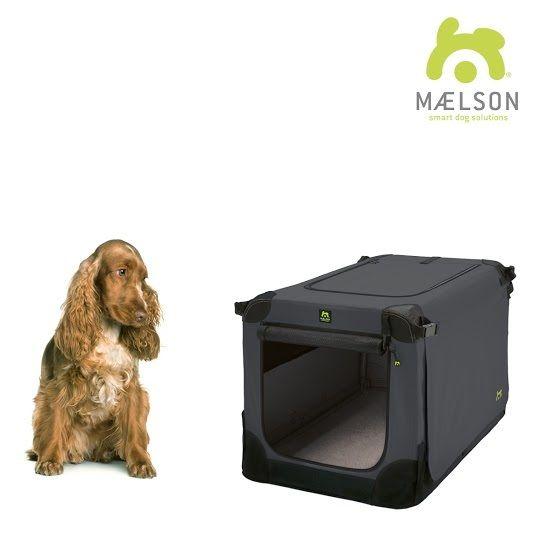 Maelson Soft Kennel Nylonová přepravka černo-antracitová M 72x51x51