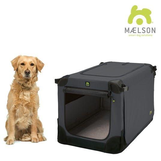 Maelson Soft Kennel Nylonová přepravka černo-antracitová XL 92x64x64