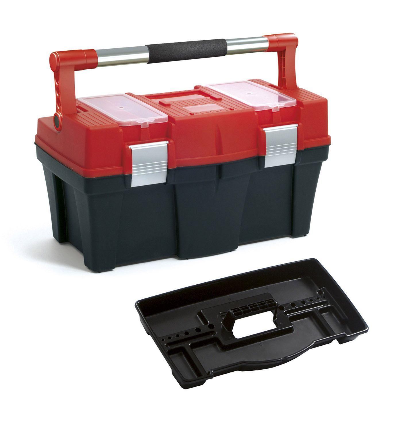 """Plastový box na nářadí 18"""", nosnost 13 kg, PRACTIC, 2 organizéry na víku Prosperplast"""