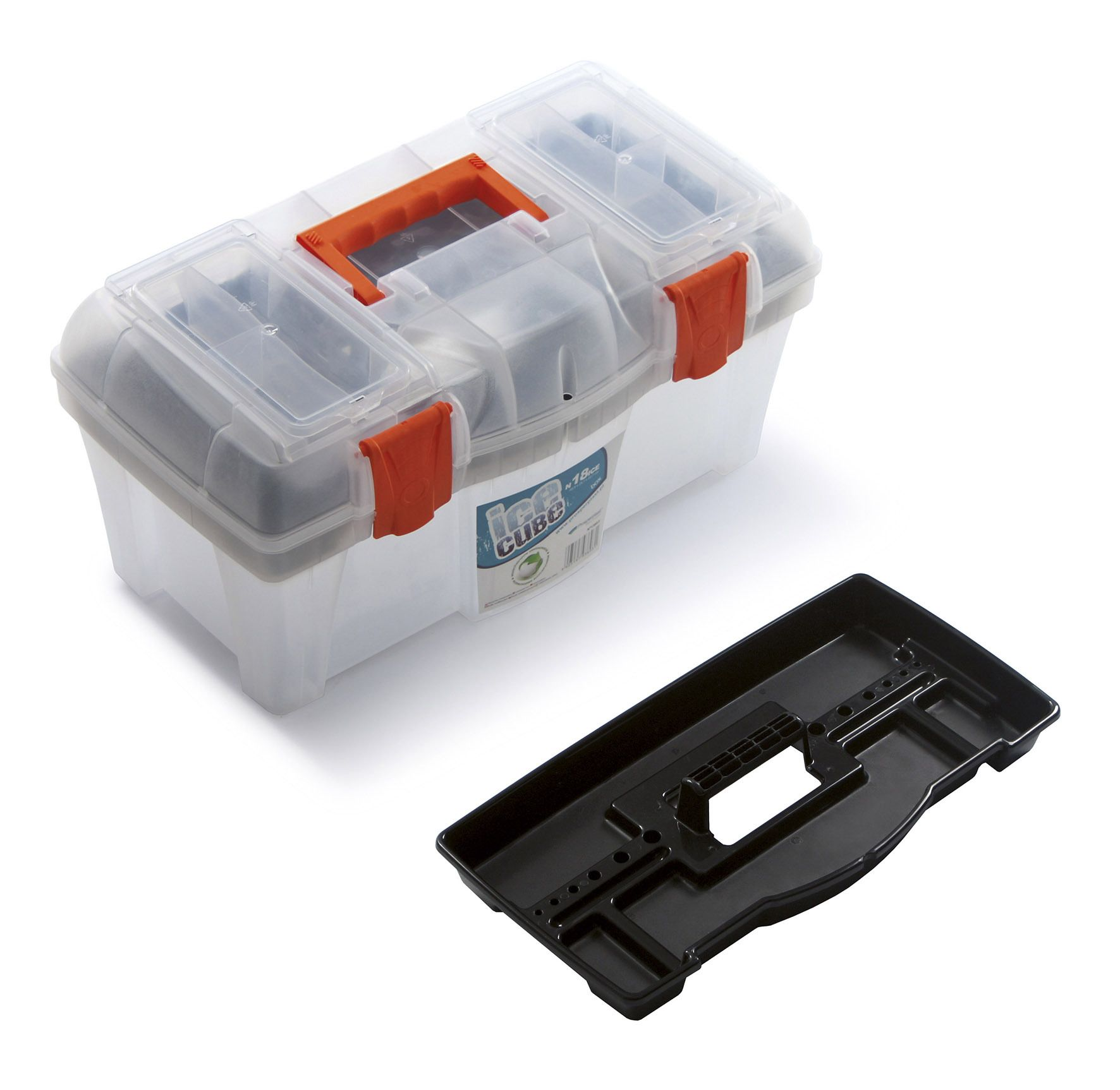 """Plastový box na nářadí 18"""", nosnost 11,5 kg, ICE CUBE SIXTOL"""