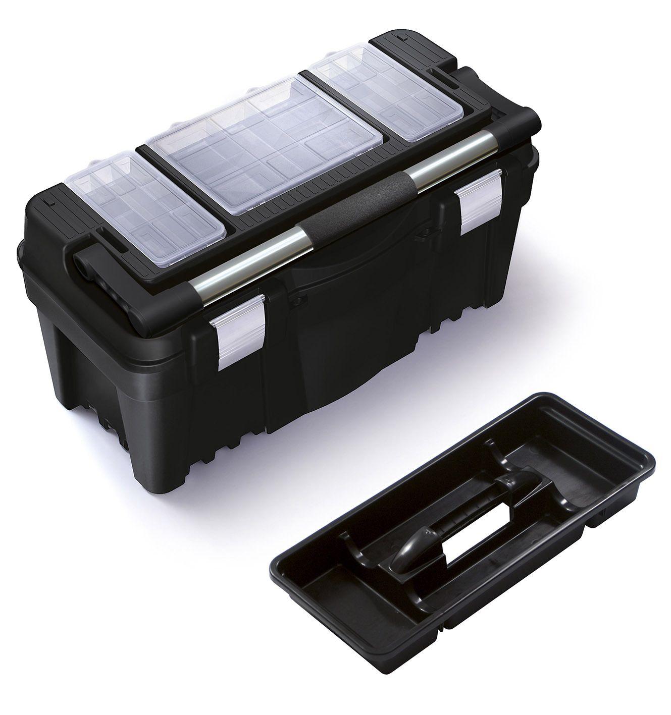 """Fotografie Plastový box na nářadí 22"""", nosnost 22 kg, PRACTIC, 3 organizéry na víku Prosperplast"""