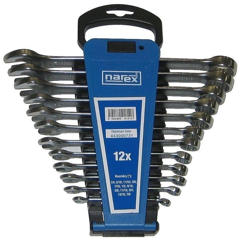 Sada klíčů 12dílná inch očkoplochých plast. držák, Narex, 443000731