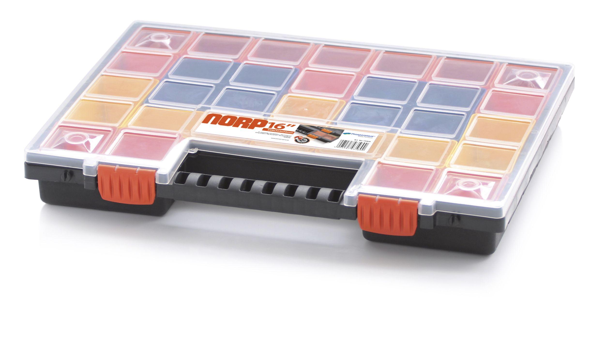 Plastový organizér 32 barevných přihrádek NORP 399x303x50 PROSPERPLAST - NORP16