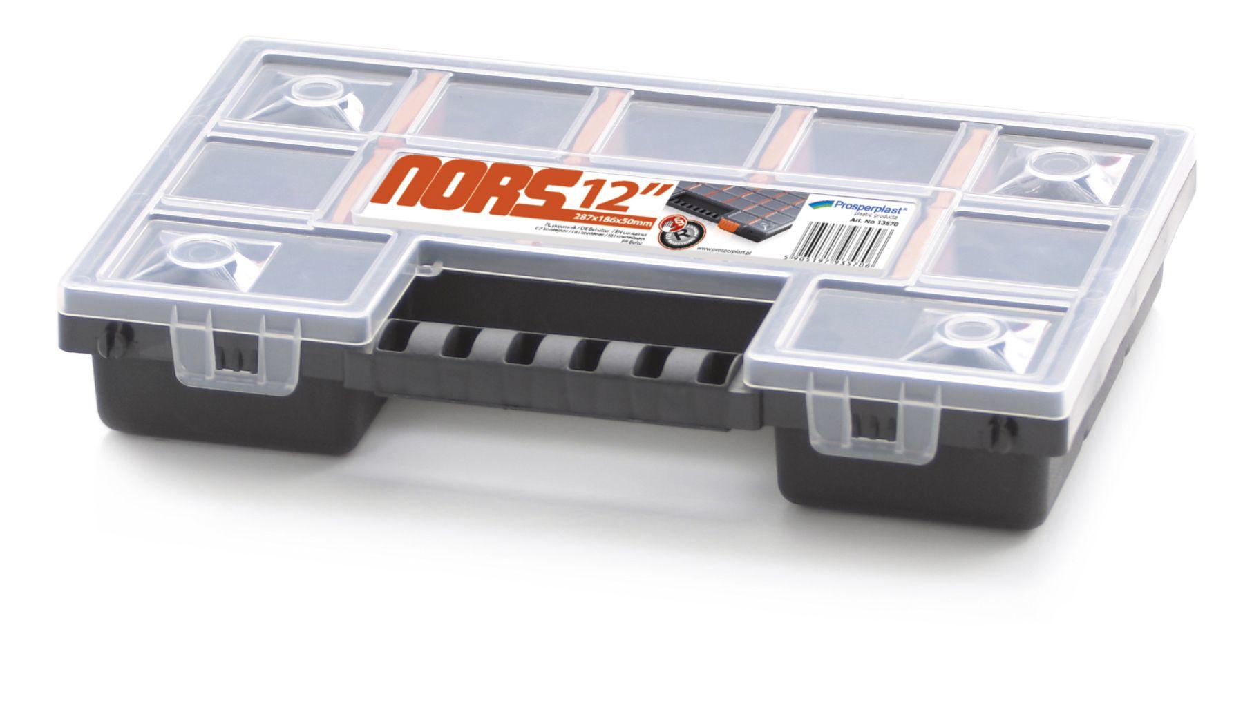 Plastový organizér 12 přihrádek NORS 287x186x50 PROSPERPLAST - NORS12