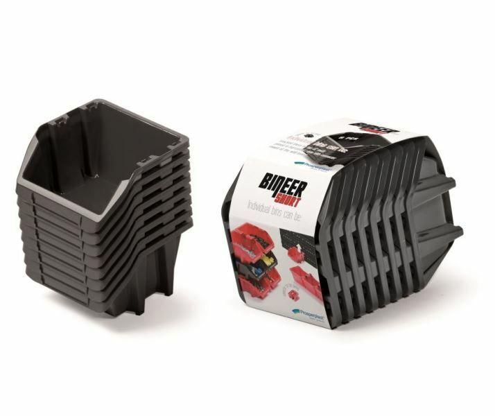 Set plastových úložných boxů 8ks BINEER SHORT SET 206x118x144 černý PROSPERPLAST