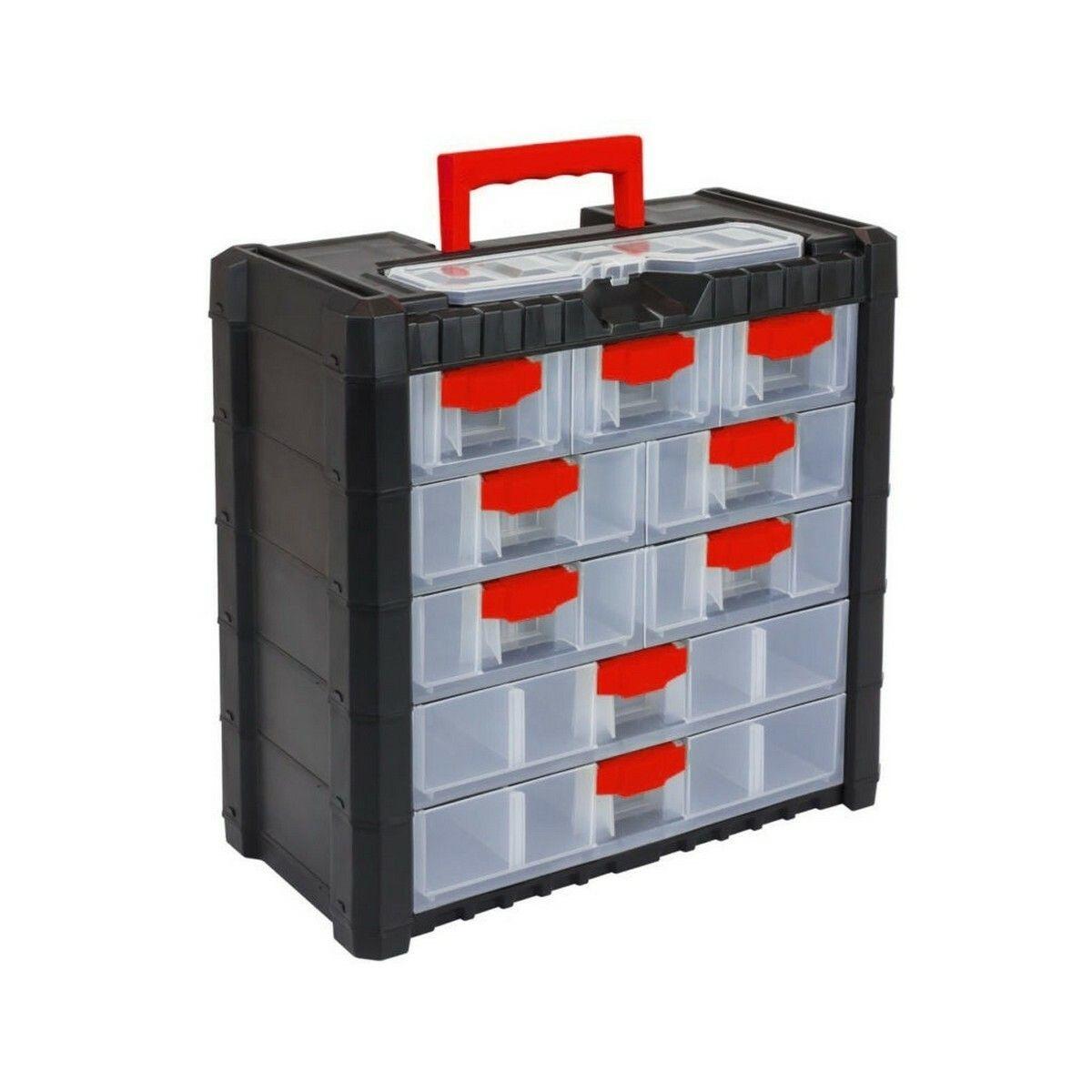 Plastový organizér na nářadí závěsný MULTICASECARGO 400x200x392, 9 zásuvek PROSPERPLAST