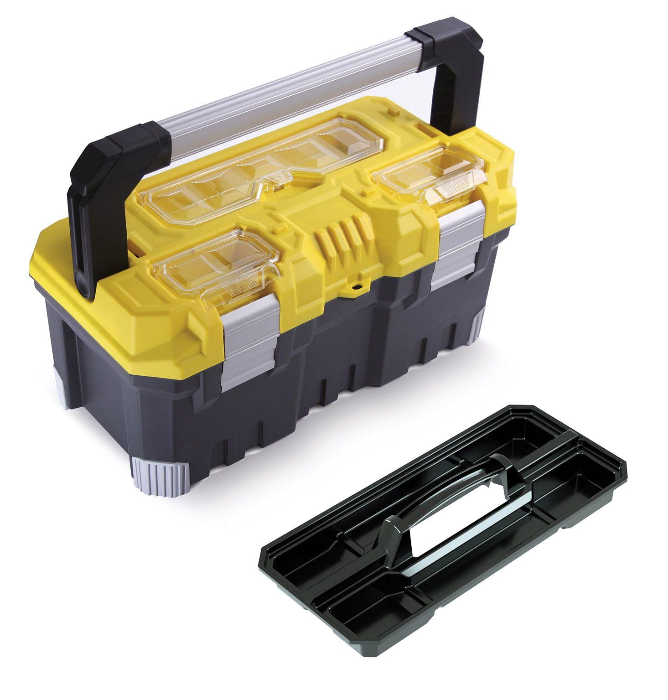 """Fotografie Box na nářadí 20"""", nosnost 15kg, TITAN, 3 organizéry na víku, malá vnitřní přihrádka Prosperplast"""