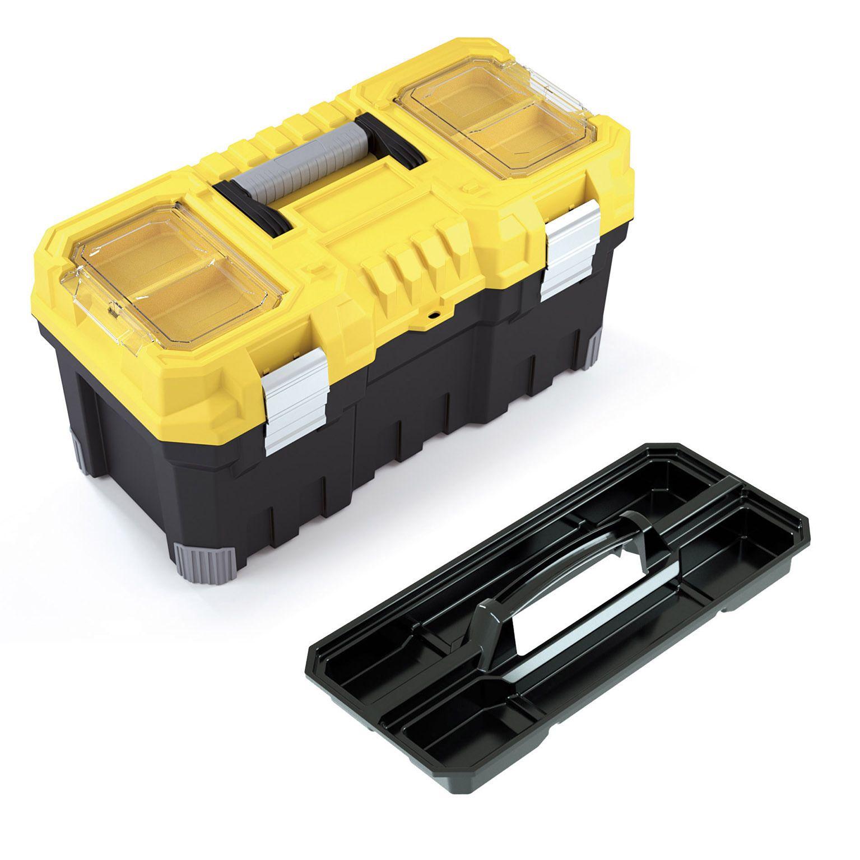 """Fotografie Box na nářadí 20"""", nosnost 15kg, TITAN, 2 organizéry na víku, malá vnitřní přihrádka Prosperplast"""