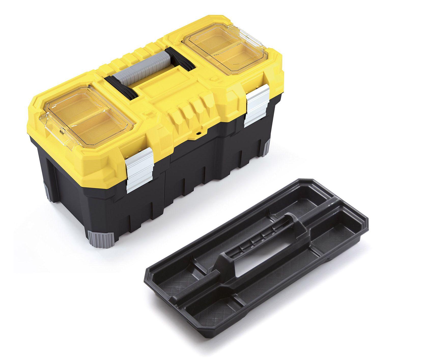 """Box na nářadí 22"""", nosnost 20kg, TITAN, 2 organizéry na víku, malá vnitřní přihrádka Prosperplast"""