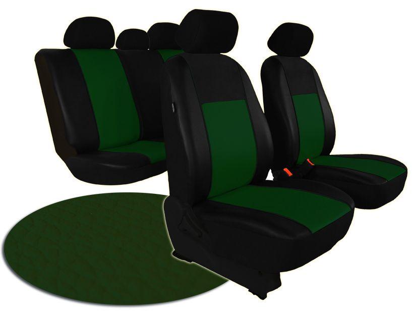 Autopotahy kožené PELLE zelené SIXTOL