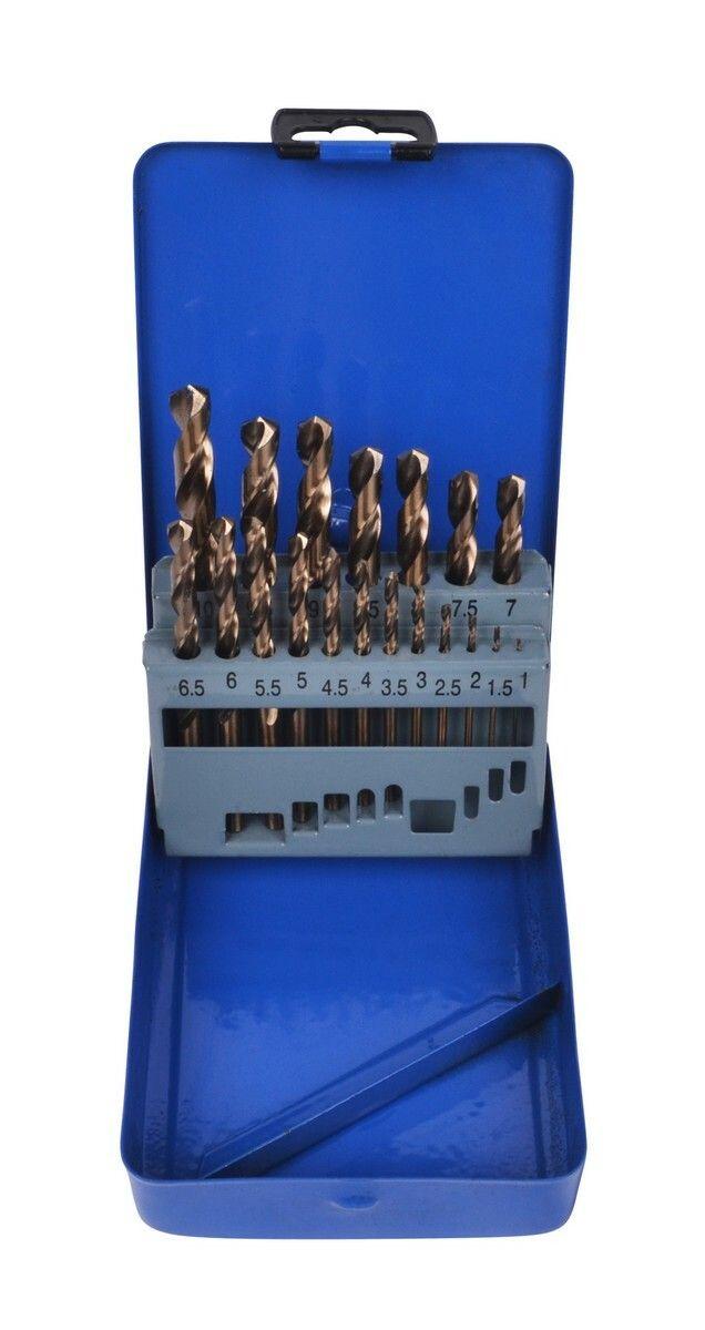 Sada kobaltových vrtáků HSS do nerezu, 1.0-10.0 mm, 19 kusů QUATROS