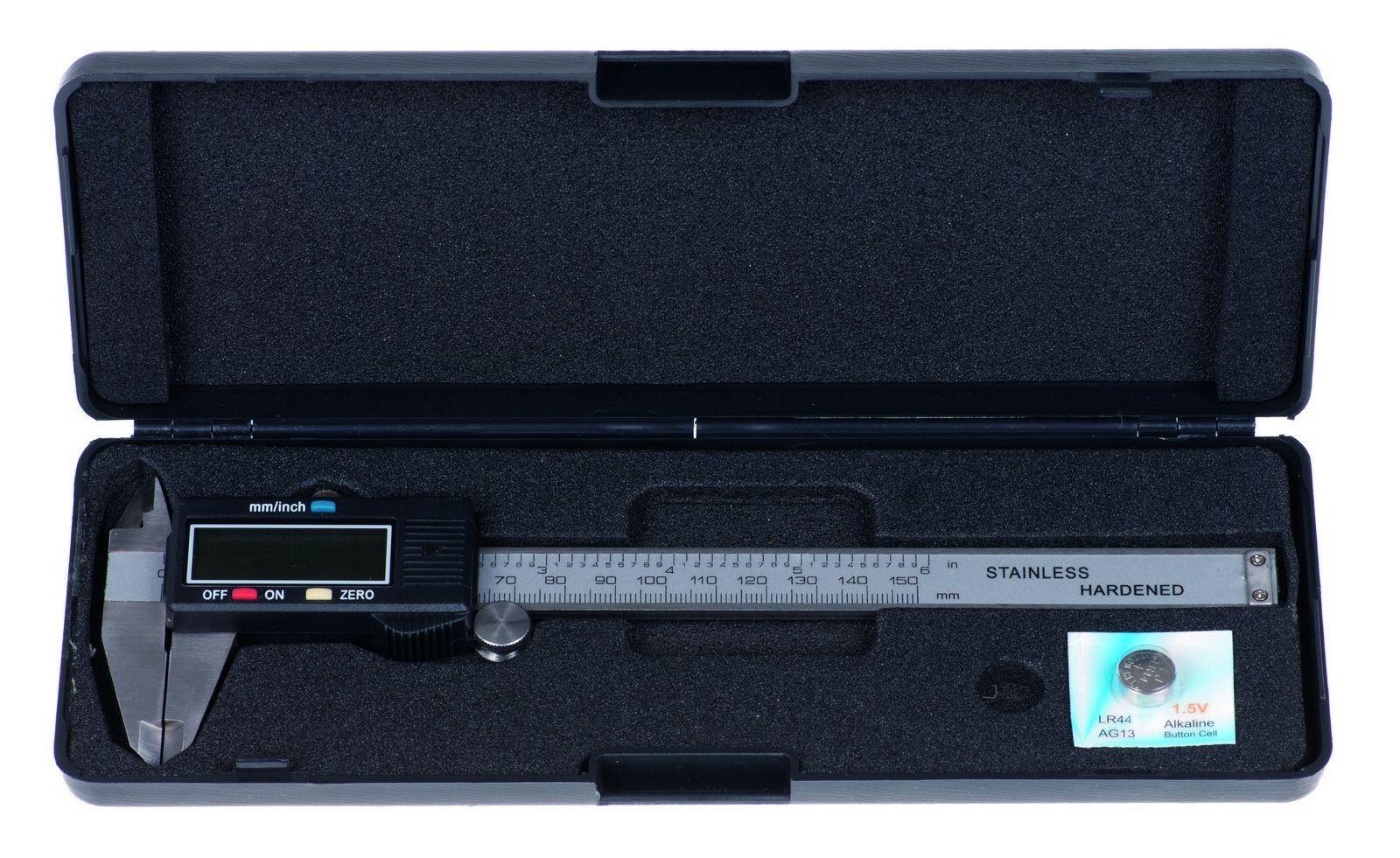 Elektronické posuvné měřidlo (tzv. šuplera), 0-150 mm x 0,01 mm QUATROS