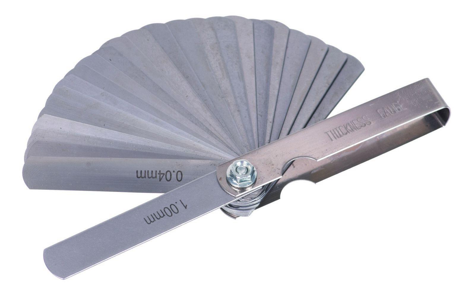 Ventilové (spárové) měrky, 25 kusů QUATROS
