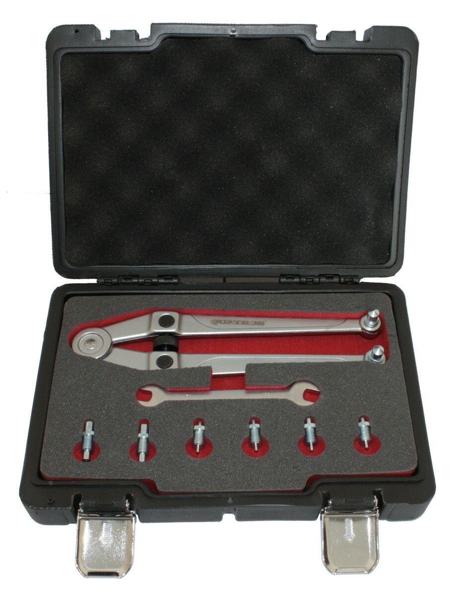 Nastavitelný klíč na matice s otvory, rozsah 21-90 mm, s adaptéry QUATROS