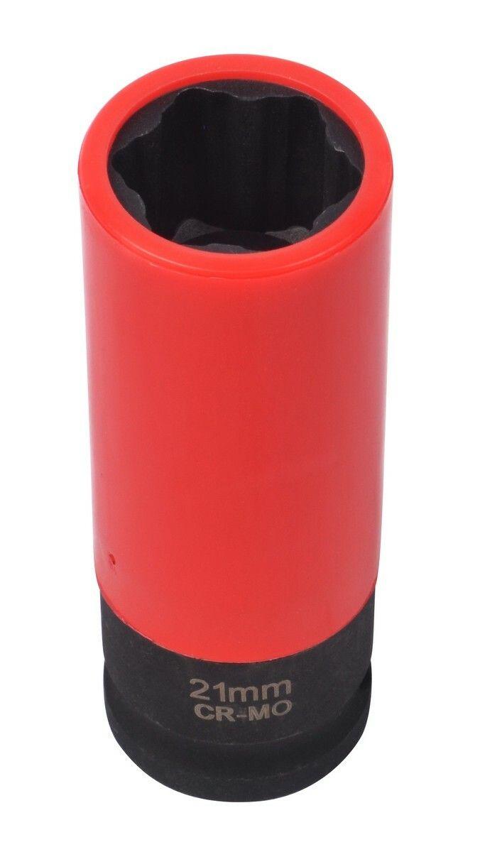 """Nástrčná hlavice pro rázové utahováky, 1/2"""", 21 mm, s krytkou na ALU QUATROS"""