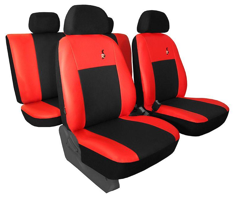 Autopotahy kožené ROAD černočervené