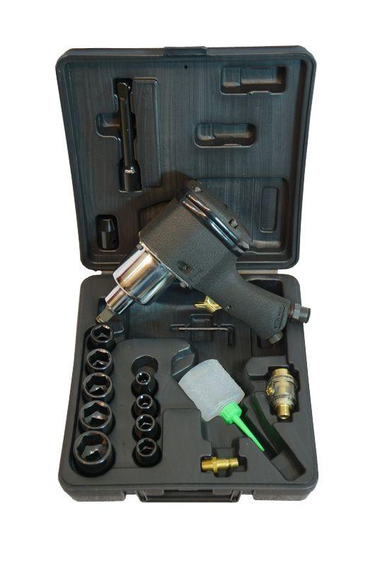 Pneumatický rázový utahovák - ATX profi 517Nm sada kufr, 9533