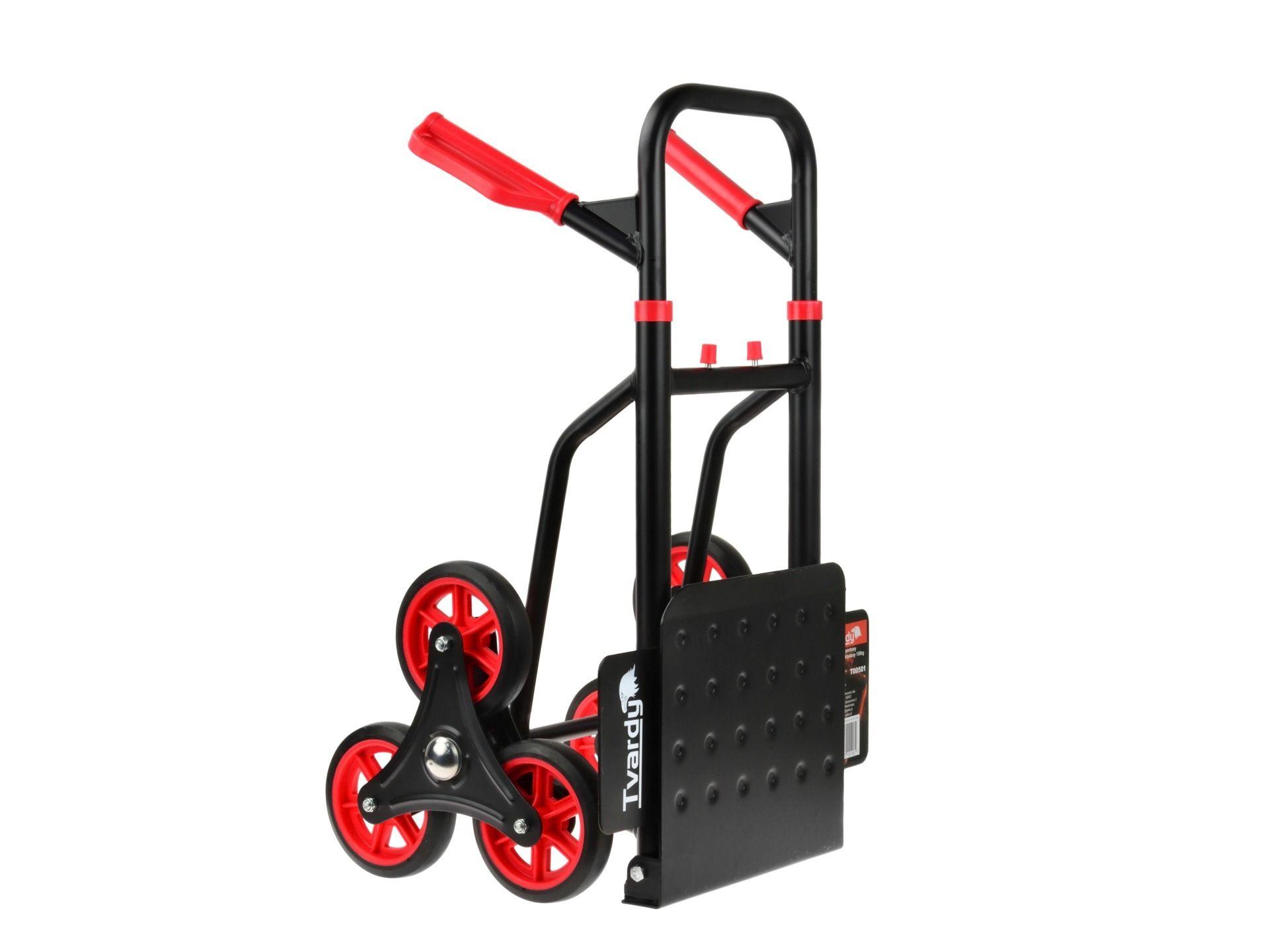 Přepravní vozík skládací, schodišťový - rudl 150kg GEKO