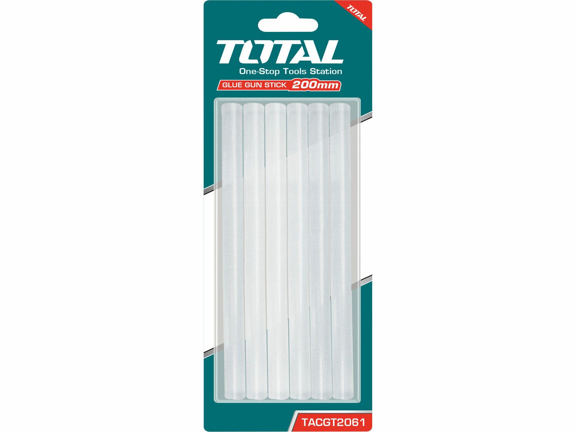 Tyčinky tavné transparentní, 6ks TOTAL-TOOLS