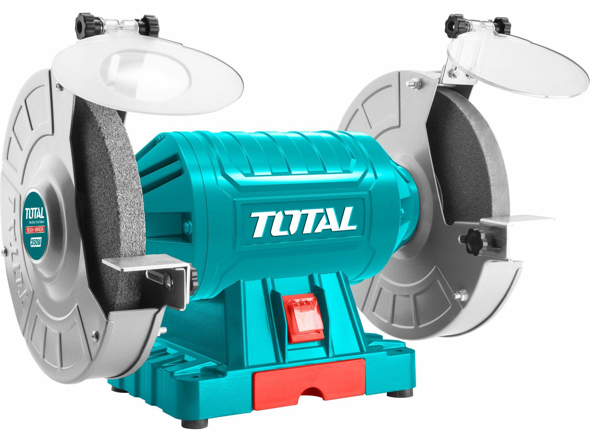 Bruska stolní dvoukotoučová, 350W TOTAL-TOOLS