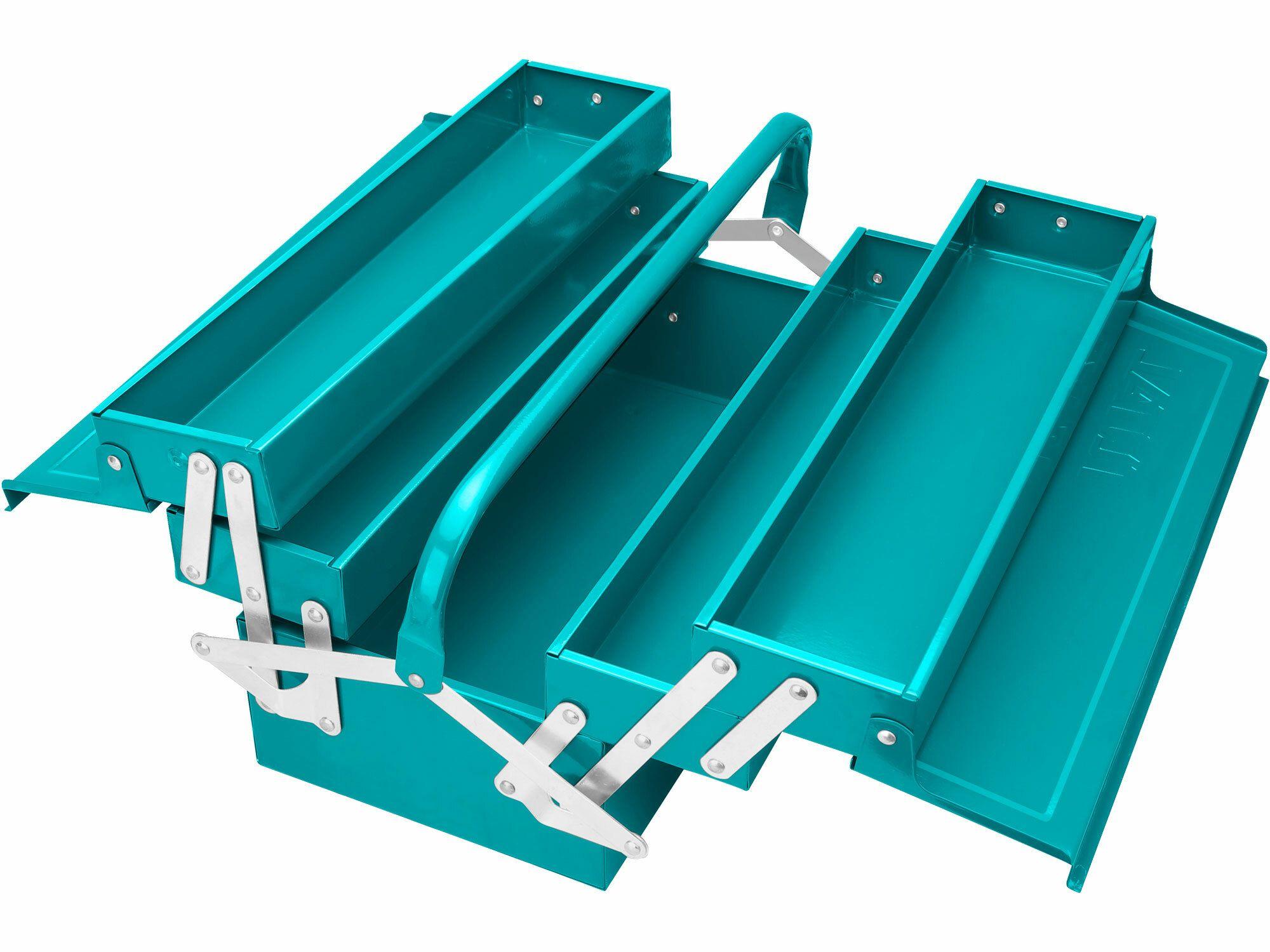 Kufr na nářadí kovový, industrial TOTAL-TOOLS