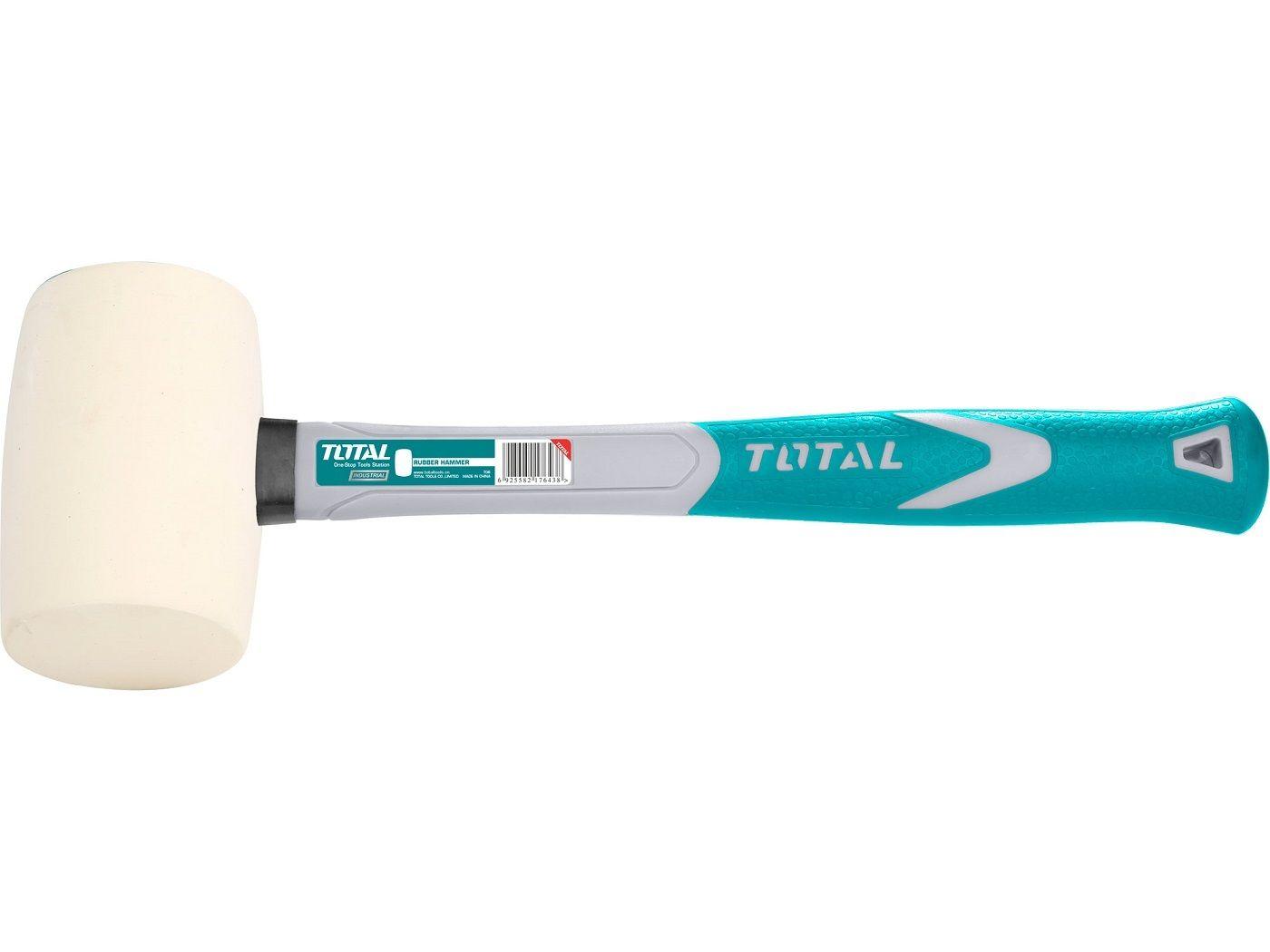 Palička pryžová bílá, 220g, industrial TOTAL-TOOLS