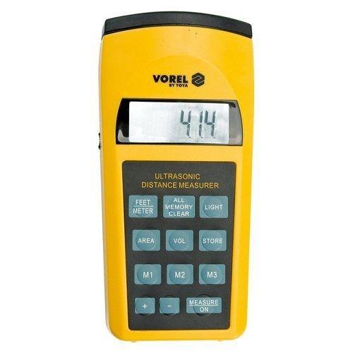 Měřič vzdáleností ultrazvukový do 15 m, rozsah měření: 0,91-15m, odchylka: 0,5%, VOREL