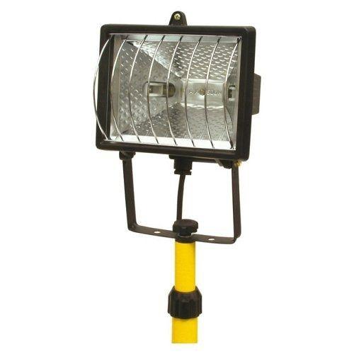 Lampa halogenová na stojanu, 500 W, TOYA VOREL