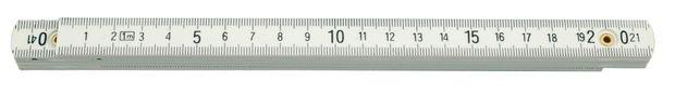 Metr skládací 2 m plastový bílý TOYA
