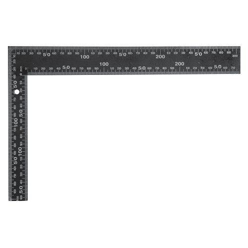 Úhelník truhlářský 400 x 600 mm černý TOYA