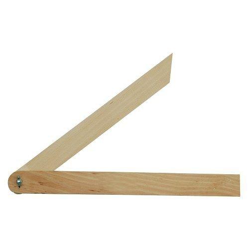 Úhelník 400 mm nastavitelný dřevěný TOYA