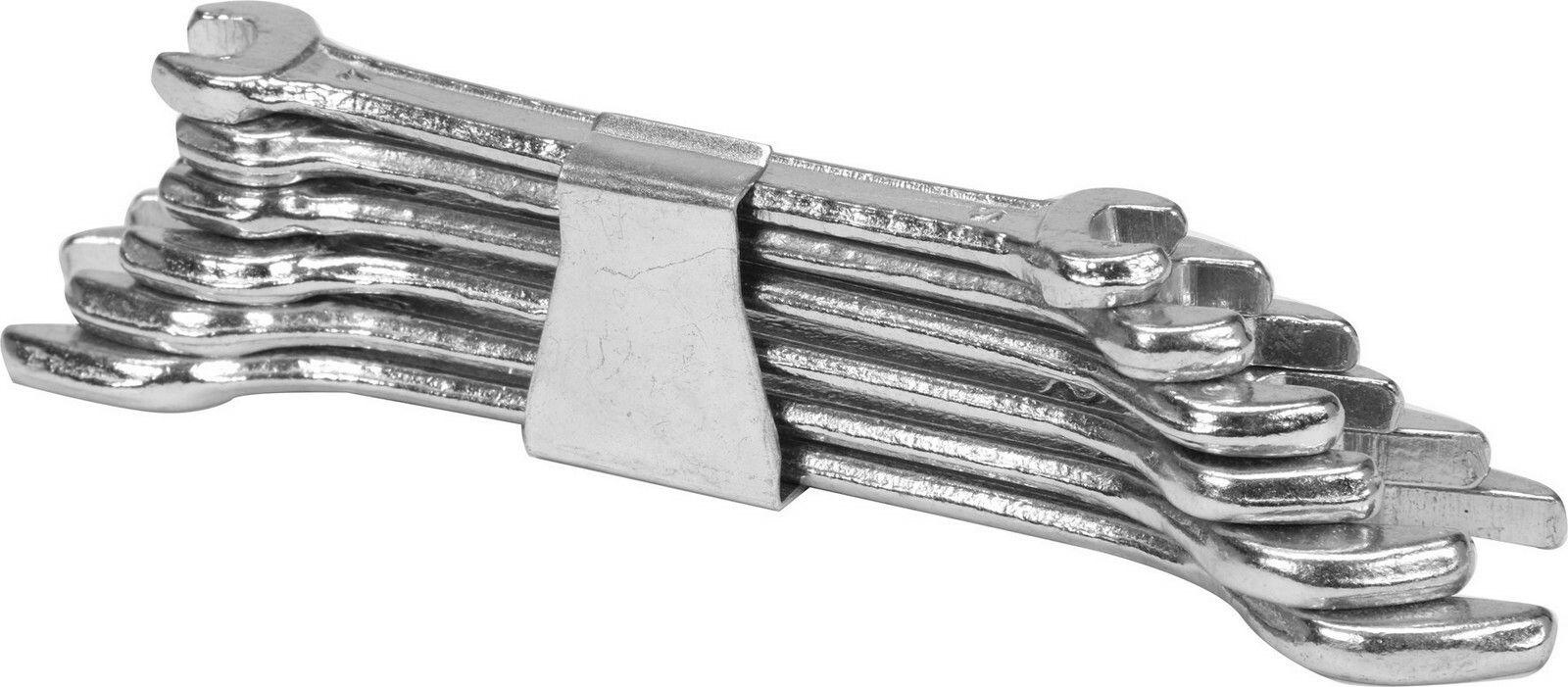 Sada klíčů plochých 6 ks 6 - 17 mm spona TOYA