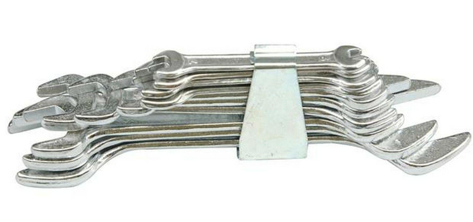 Sada klíčů plochých 8 ks 6 - 22 mm spona TOYA