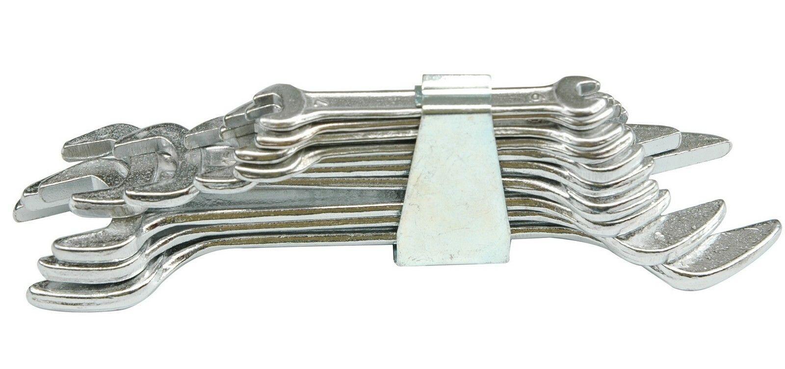 Sada klíčů plochých 10 ks 6 - 32 mm spona TOYA