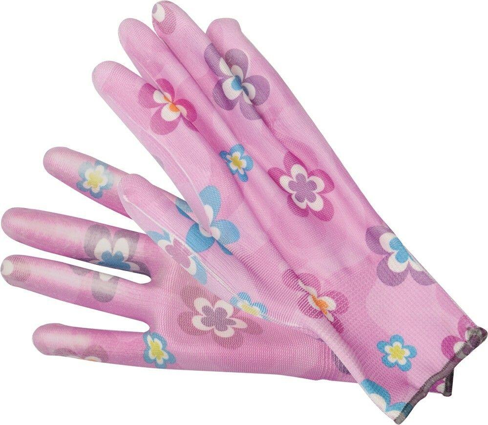 """Pracovní rukavice růžové 9"""" TOYA"""