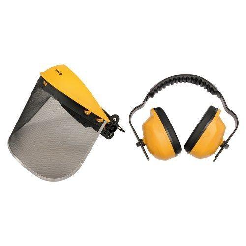 Helma s odnímatelným štítem + chrániče sluchu TOYA
