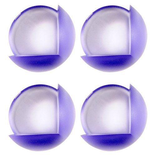 Chráníč na rohy nábytku, samolepící,  modrý průsvit, 4ks TOYA