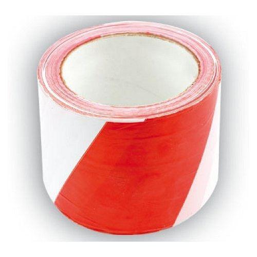 Páska výstražná dvoubarevná 75 mm x 100 m TOYA