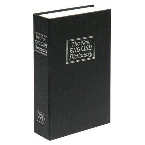 Schránka na peníze imitace kniha 180x115x55mm TOYA
