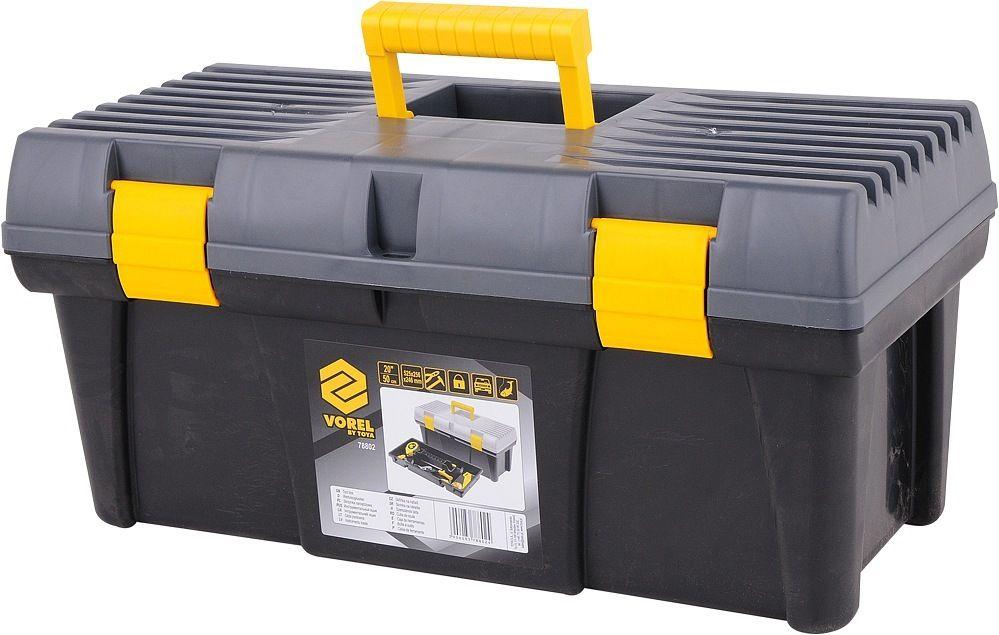 """Box na nářadí plastový 20""""  2 zámky šedé víko TOYA"""