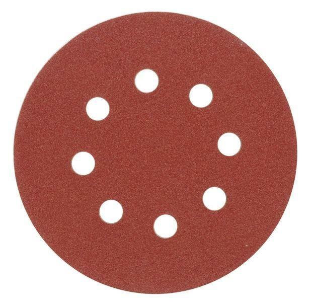 Brusný papír 125 mm P36 s otvory 5 ks suchý zip TOYA