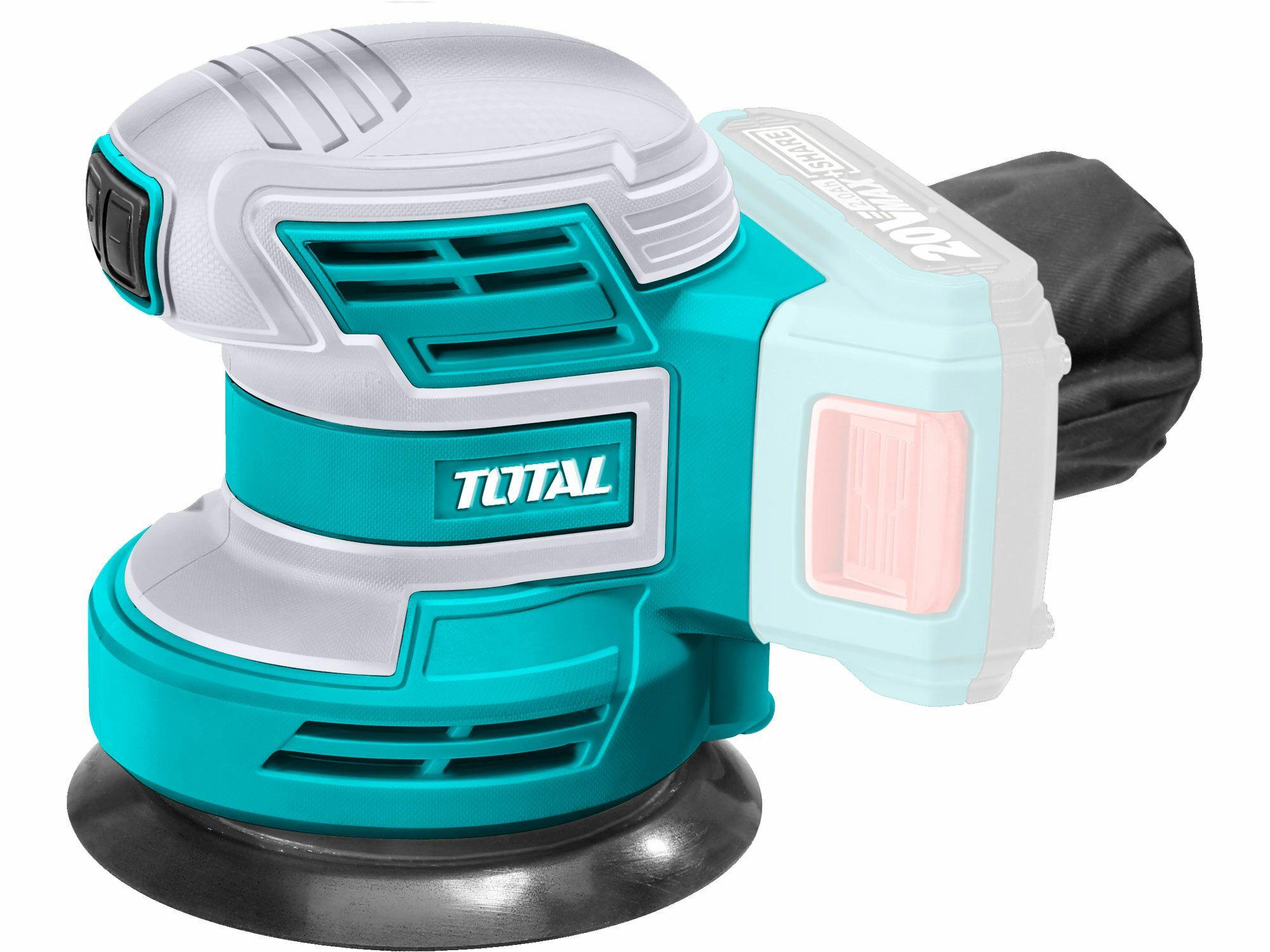 TOTAL TROSLI2001 Bruska excentrická AKU, 125mm, 20V Li-ion, 2000mAh, industrial - bez baterie a nabíječky