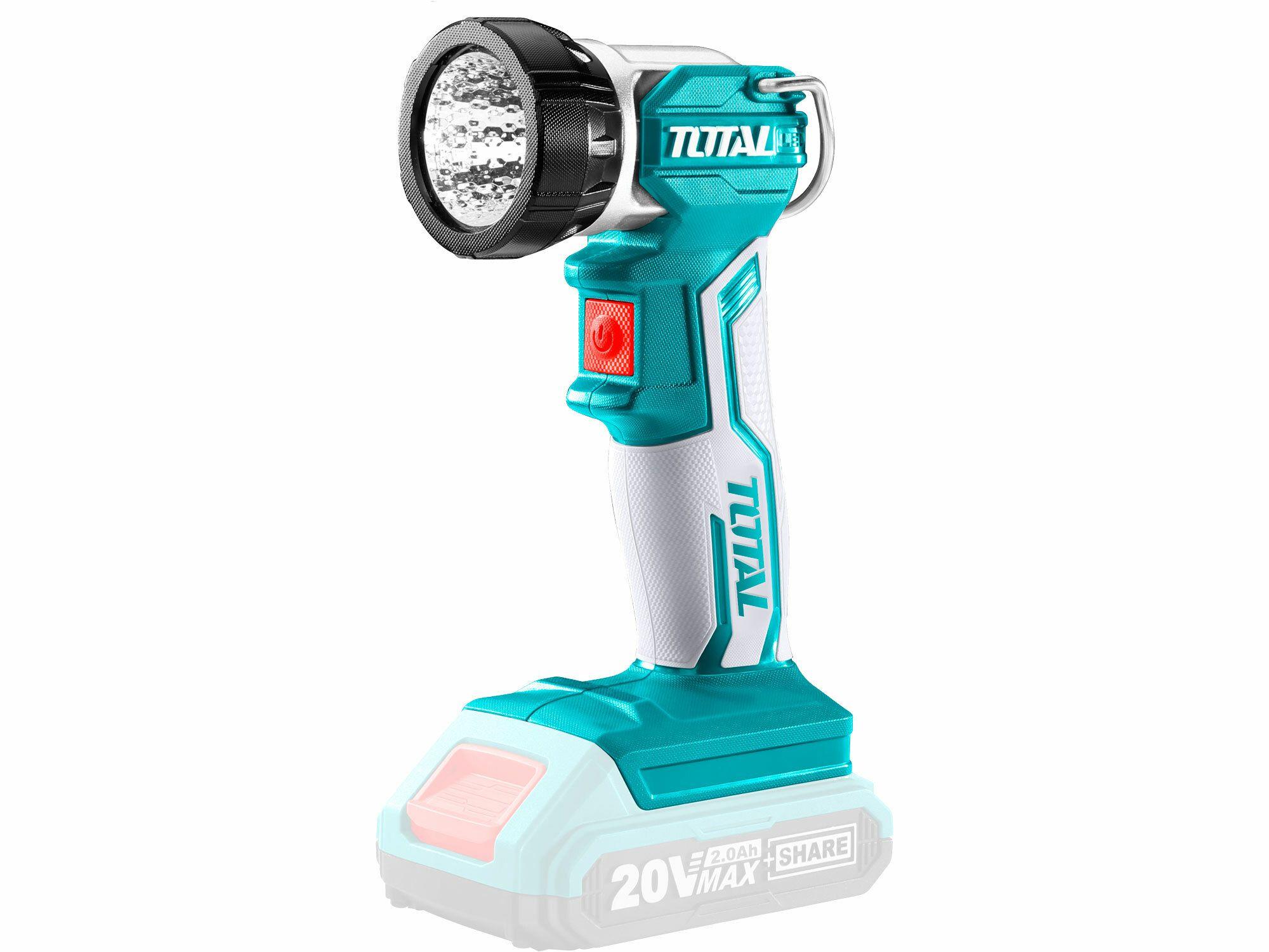 Světlo pracovní závěsné, 20V Li-ion, 2000mAh, industrial - bez baterie a nabíječky TOTAL