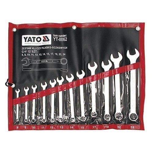Sada klíčů očkoplochých, 12ks, 8 - 24 mm, YATO