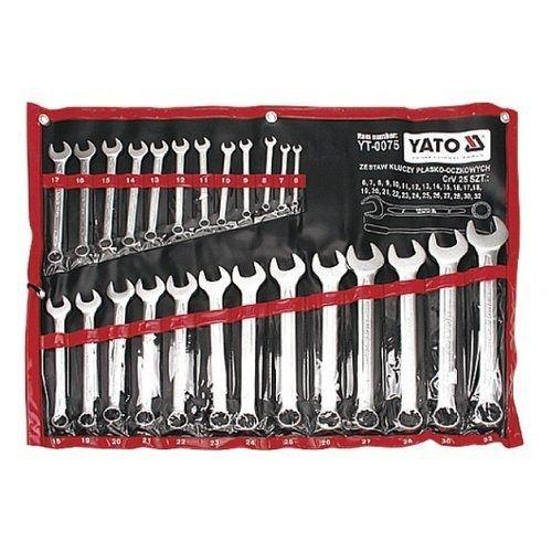 Sada klíčů očkoplochých, 25ks, 6 - 32 mm, YATO