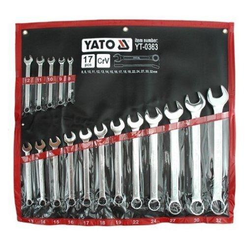 Sada klíčů očkoplochých, 17ks, 8-32 mm, YATO