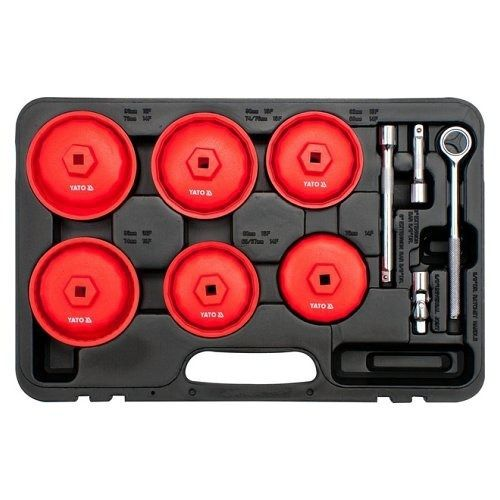Sada klíčů miskových na olejové filtry 15 ks, YATO